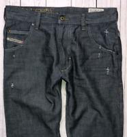 Mens DIESEL Krooley Jeans W28 L32 Grey Regular Slim Carrot Wash 0809D