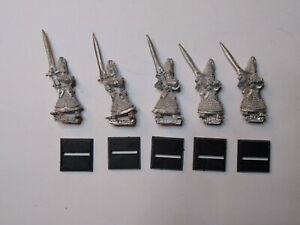 Warhammer High Elves- 5x Swordmasters. Classic Metal. OOP