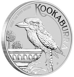 2022 Australia Kookaburra 1oz $1 Pure Silver .9999 Bullion Coin in Mint Capsule