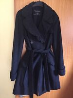Allsaints Elain Evening Trench Wool Coat Dress Jacket Dark Grey Pagan Goth 6/8