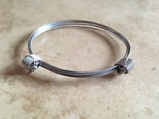En acier inoxydable style poils d'éléphant bracelet