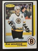 1986-87 OPC O-Pee-Chee Ray Bourque #1 Hall of Fame