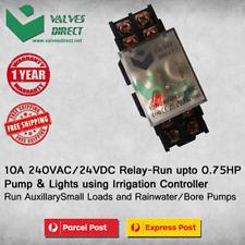 10A 240VAC/24VDC Relay- Run upto 0.75HP Pump&Lights using Irrigation Controller