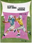 1960 NFL Football Program San Francisco 49ers vs Washington Redskins