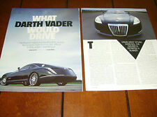 2005 MAYBACH EXELERO V12 CONCEPT CAR ***ORIGINAL ARTICLE***