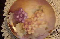 ROSENTHAL Selb, Bavaria, Germany- c1890s-1950s Grapes hand painted plate[73]