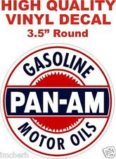 Vintage Style Pan AM Gasoline Motor Oils Gas Pump Decal - The Best