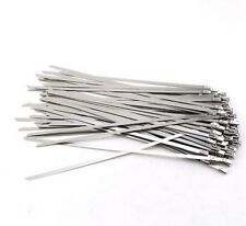 """10 Pc Stainless Steel Metal Cable Zip Tie Strap Locking Exhaust Pipe Header 8"""""""