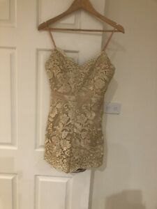 Sophia Gold Playsuit Size 10 Brand New With Tags