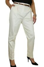 Chino Tapered Leg Trousers Belt Ivory Stone 8-22 20