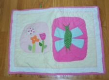 Pottery Barn Kids Pink Flowers Dragonfly Quilted Standard Sham Green Polka Dot
