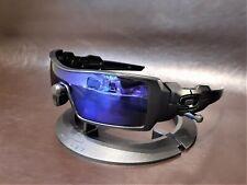 Oakley Oil Rig II POLARIZED Matte Black w/Sapphire Iridium Lens & Polished Icons