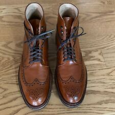 Alden Burnished Tan Calfskin Wing Tip Boot Size 9.5 D