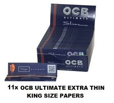 11x OCB ULTIMATE EXTRA THIN LONG PAPERS, worldwide shipping