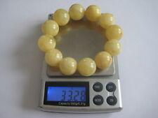 Bernsteinarmband Baltic Amber Bracelet Weiß-Gelb White-Yellow 16 mm Beads
