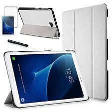 Smart Cover f. Samsung Galaxy Tab A 10.1 A6 Lederimitat Schutzhülle+Folie Weiß-3