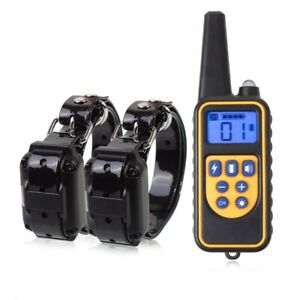 Shock Dog Training Collar Remote Control Waterproof Rechargeable 800m Electric