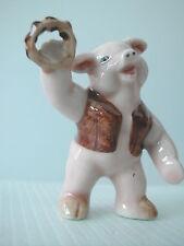 KLIMA K381 Miniature statuette en porcelaine - COCHON MUSICIEN N° 6