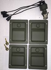 HUMVEE SECURITY KIT - Green Locking Door Handles & Keyed Ignition Switch