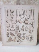 Vintage Print,ROMAN,INSTRUMENTS MUSIQUE,Racinet,1888