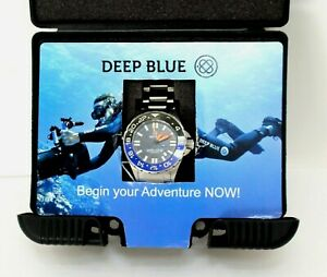 Deep Blue Daynight Rescue GMT T-100 Automatic Dive Watch Stainless 300m