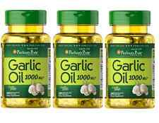 OIL GARLIC 1000mg 300 Pearls Puritans Cardiovascular Cholesterol
