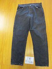 used Wrangler black tag 38x34 meas 36x33.5 grunge jean zip15326