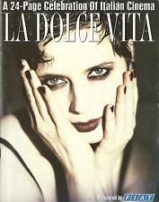 LA DOLCE VITA A 24 PAGE CEEBRATION OF ITALIAN CINEMA PREMIERE MAGAZINE by FIAT
