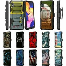 For Samsung Galaxy A10e / Galaxy A20e Rugged Armor Holster Belt Clip Case