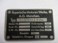 Typenschild Schild BMW R 75 275/750 R75 Wehrmacht WW 2 2.WK s21 Motorrad Krad