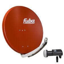 FUBA DAA 850 R + SHARP Quad LNB SAT Spiegel Schüssel ziegelrot rot Antenne 85cm