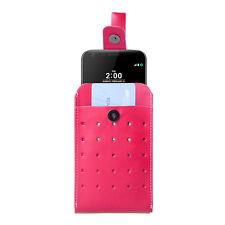 Pink Retro Vertical Phone Belt Clip Pouch Wallet Holster For LG G5 G4 V20 V10