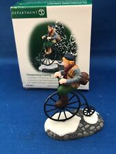 New ListingDept 56 New England Village Series Pennyfarthing Pedaling #56615 Bicycle New