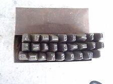 Alte Schlag Buchstaben 5 mm