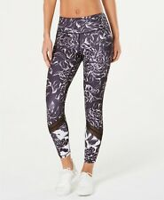 Ideology Womens Leggings Black Size XXL Plus Floral-Print Mesh-Trimmed $49 264