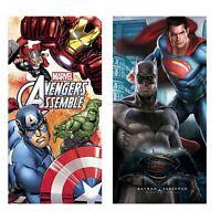 KIDS OFFICIAL MARVEL SUPER HERO FLEECE BLANKET AVENGERS BATMAN SUPERMAN