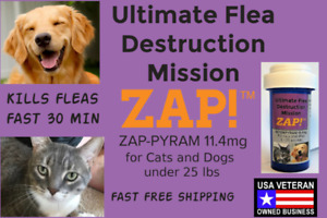 ZAP! Instant Flea Control Killer 50 Capsules 11.4mg Cats and Dogs <25lb FreeShip