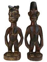 Afrika Ibeji Zwillingsfiguren Paar Nigeria Yoruba Figuren Art Kunst Stammeskunst