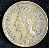 1907 Indian Head Penny, Extremely Fine+ Condition, Cent, Free Shipping, C4106