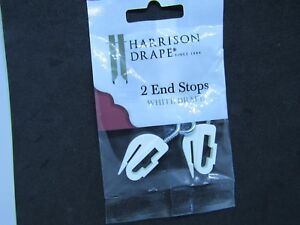 CURTAIN RAIL END STOPS HARRISON DRAPE W1963 X1 packet of 2
