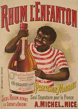 Affiche Originale - Rhum Extra Supérieur de Martinique - Plantation Manhaut