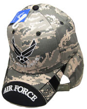 a5a654801d6 Air Force ACU Camouflage Camo Black USAF Wings Embroidered Cap Hat CAP603UC