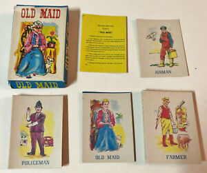 Vintage Old Maid Set of 3 Random Oversize Playing Cards 1967 Game Piece Swap Card