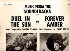 DUEL IN THE SUN(TIOMKIN)/FOREVER AMBER(RAKSIN)-SOUNDTRACKS-CINEMA LP MINT