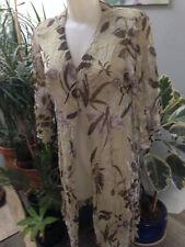 9fb6f8aa8ab JACQUELINE RIU sur robe longue viscose beige imprimé fleurs taille 40