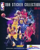 2015/2016 Panini Basketball HUGE 72 Page Stickers Collectors Album-10 Stickers!