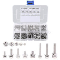 304 Stainless Steel Pan Head Machine Nut & Bolt Assortment Screw With Washer