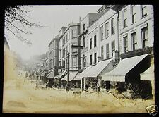 Glass Magic Lantern Slide BRISTOL PARK STREET FROM COLLEGE GREEN  C1900 L84