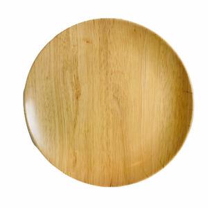 Tommy Bahama Wood Grain Natural Matte Natural Melamine Dinner Plates Set of 4