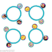 DORA THE EXPLORER AND FRIENDS CHARM BRACELETS (4) ~ Birthday Party Supplies Toy